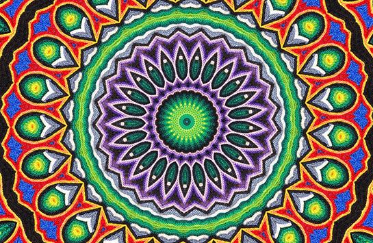 brightly colored mandala